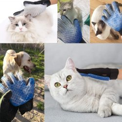 Luva de Cat Cat Grooming Pet Luvas Luva da escova para Cat Dog Hair Remova a escova Dog Deshedding pentes de limpeza luvas de Massagem