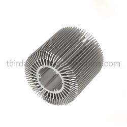 LED 램프 디자인/산업 알루미늄 열 싱크 밀어남 공장을%s 양극 처리된 은 알루미늄 단면도 열 싱크