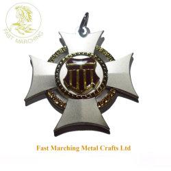 도매 사용자 정의 Medallion 타일 선물 철철 크로스 메탈 메이드 메달