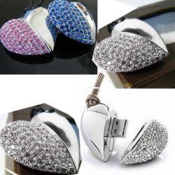 Рекламных подарков в форме сердечка украшения Diamond флэш-накопитель USB