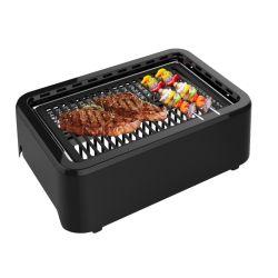 Electric Churrasqueira sem combustão interiores para a vida de culinária saudável com Stick numa chapa de aquecimento por infravermelhos