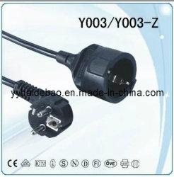 Европейский удлинительный шнур/VDE удлинительный шнур (Y003/Y003-Z)