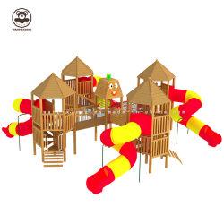 أطفال منزلق خارجيّة لأنّ تسلية تجهيز خشبيّة كبير روضة أطفال منزلق لأنّ عمليّة بيع