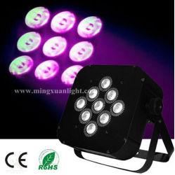 9*12W 4en1 LED RGBW plat par batterie (YS-124)
