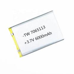 7065113 de la Chine fournisseur 3,7 V au lithium 6000mAh Batterie Lipo aux produits numériques