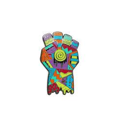Il distintivo poco costoso del risvolto ha reso a mestiere di arti del metallo di qualità il Pin duro dello smalto