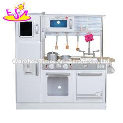 تصميم جديد أصلي الأطفال مطبخ لعبة خشبي أبيض مع الأصوات W10c382