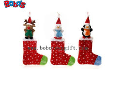 Felpa rellenó el calcetín de Navidad Christams adorno de animales de juguete