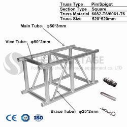bundel van het Aluminium van de Verlichting van 520*520mm de Draagbare voor Verkoop