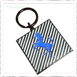 Custom Metal Crafts placage noir Cheval style anneau porte-clé TAG Trousseau pour cadeaux d'accessoires personnalisés