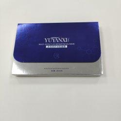 Blau fertigt Papiergeschenk-Kasten für Gesichtsschablonen und Kosmetik kundenspezifisch an