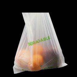 De biologisch afbreekbare Materiële Ruwe Plastic Plantaardige Zak van het Maïszetmeel voor Supermarkt