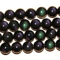 Rainbow naturel noir obsidienne brins lâches perles 12mm