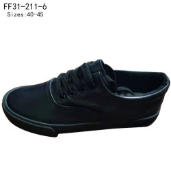 أزياء Lace أعلى نمط الرجال السود أحذية القنب العادية مخصص (FF31-211-6)