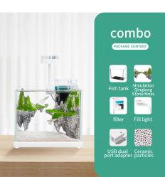Yee el agua del acuario de pasto pequeño escritorio pequeño modelo ecológico para la pecera