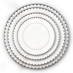 Ouro Grosso Contornados Placas Jantar Bone China 10,5 polegada de placas cerâmicas para restaurante