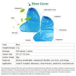 Dekking van de Schoen van overschoenen de Beschermende Waterdichte Plastic/de Beschikbare Dekking van de Schoen