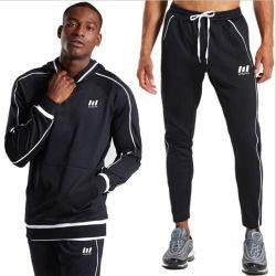 Commerce de gros de vêtements de sport d' hommes en deux pièces de vêtements de sport avec le capot de l'exécution de l'usure