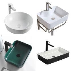 Lavage des mains de la céramique sanitaire mur accroché Art Cabinet de socle du bassin de la salle de bains au-dessus de comptoir du dissipateur de compteur