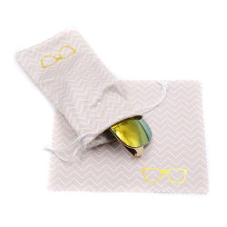 Sacchetto impaccante stampato abitudine del panno di pulizia del monocolo di Microfiber Eyewear di marchio