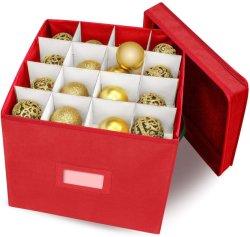 取り外し可能なふたが付いている64の標準の休日のクリスマスの装飾の収納箱まで記憶装置