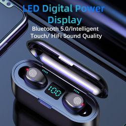 전화를 위한 이중 마이크를 가진 헤드폰 귀 새싹이 헤드폰 책임 상자를 가진 Tws Bluetooth 이어폰 5.0 무선 이어폰에 의하여