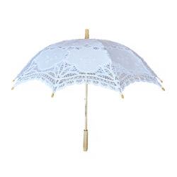 게스트 주문 백색 양산 면 우산을%s 결혼 선물