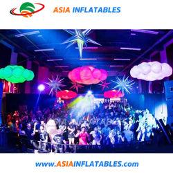 Réplique de Cloud Computing gonflables d'éclairage LED flottante ballons décoratifs
