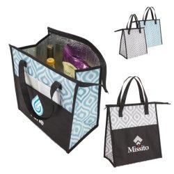 حقيبة تبريد الغداء غير منسوجة الترويجية، وحقائب غداء قابلة لإعادة الاستخدام للنساء والرجال والأطفال هدايا صديقة للبيئة مع حقيبة تبريد Zipper مقاومة للماء