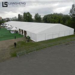 大きく大きい屋外の白い一時企業の倉庫の記憶のアルミニウム構造PVCおおい形のテント30X80m