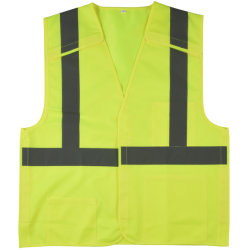 Het gele Weerspiegelende Vest van het Vest van de Veiligheid met ANSI Workwear van de Band van de Klitband