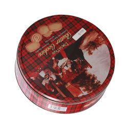 Christmas Tin Box Trumpet Mini Jewelry Case Fragrance Desktop Round Candy Cookies opbergdozen Giften
