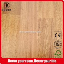 Iroko Natural Color Wood 엔지니어드 바닥재, 매끈한 표면