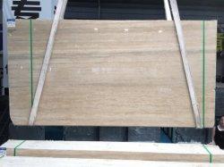 床タイルの平板のカウンタートップまたはWorktops/VanitytopsのためのTravertineのベージュ大理石の石
