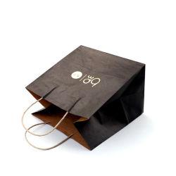 سعر تنافسي أنيق شعار العلامة التجارية الفاخرة متجر فاخر التسوق الأبيض حقائب هدايا ورقية مع مقابض للشريط