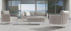Estrutura de alumínio Corda de tecidos de sofá de lazer para a sala de estar em Casa Hotel