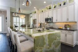 China Factory Villa Apartments Pedra Natural Green Onyx bancadas de cozinha