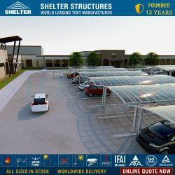 옥외 알루미늄 2 차를 위한 폴리탄산염에 의하여 구부려지는 지붕 안뜰 덮개 또는 두 배 간이 차고