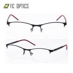 Pronto mercadorias metade Rim Senhora as mulheres de Segurança Última Estrutura Óculos óptica de metal flexível