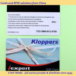 بطاقة هدايا عضوية بلاستيكية مصنوعة من مادة PVC مع أشرطة مغنطيسية