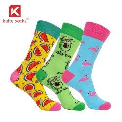 Bunte Baumwollsocken-Frucht-nettes Tierkleid fertigen Mannschafts-Socken kundenspezifisch an