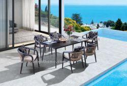 Простая конструкция из алюминия высокого качества PE плетеной сад, садовой мебелью