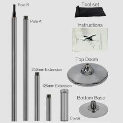 Draagbare roestvrijstalen Spin Stripper Dance Pole van 45 mm