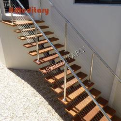 야외 스테인리스 스틸 난간 계단 난간 및 테라스 난간 디자인