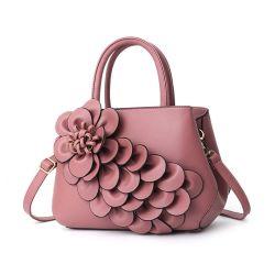 2019 de Recentste In het groot die Markt Guangzhou van de Verdeler van de Handtas van de Dames van de Bloem van de Manier Stereoscopische in de Totalisator van de Vrouw van China tot Dame Designer Shoulder PU Leather Zakken wordt gemaakt