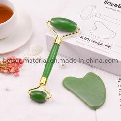 Салон красоты массажер природных инструмент на лице Jade ролик