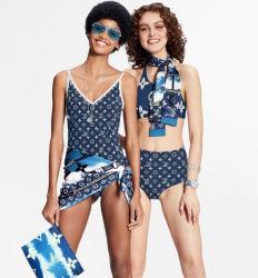 2021 het Nieuwe Badpak van de Merknaam van de Bikinis van de Ontwerper van het Embleem van de Luxe van de Brief Sexy 2 Stukken van de Vrouw Swimwear & de Leren riem Bathsuit van de Strandkleding