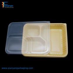 Wegwerfplastikmittagessen-Kasten-Nahrungsmittelvorratsbehälter