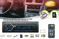 Één Radio van de Auto van het Comité van DIN Afneembare met Speler USB