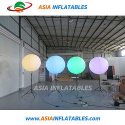 Altura ajustável infláveis permanente da luz de LED do balão de suporte